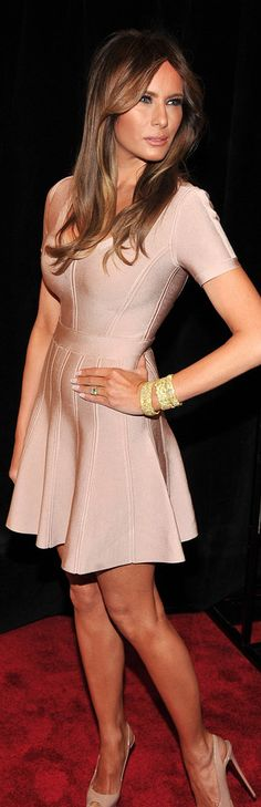 First Lady Melania Trump one of the most gorgeous First Ladies ever! Dress Outfits, Fashion Outfits, Womens Fashion, Dresses, Milania Trump Style, Donald Trump Family, Melania Knauss Trump, Malania Trump, Divas