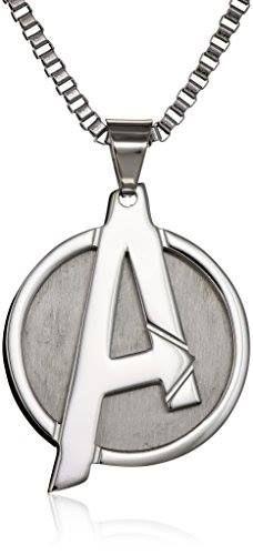 "Marvel Comics Unisex ""A"" Logo Avengers Stainless Steel Chain Pendant Necklace 24"" http://order.sale/TRFc (via Amazon)"