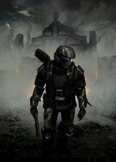 This is a cc for my favorite halo character the odst, i did not do the painting merely a touch up with cc and dodge and burn tools. Halo 3 Odst, Halo 5, Halo Reach, Halo Backgrounds, Science Fiction, Halo Armor, Halo Collection, Halo Master Chief, Halo Series