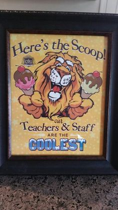 Here's the Scoop Teacher Appreciation Week Ice Cream Bar