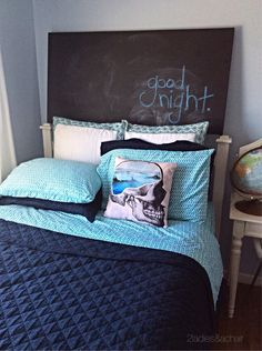 Revamp your guest bedding at HomeGoods! We are loving these beautiful cotton sheets! The print is perfect. We paired navy with this aqua sheet set to create the summer theme. It looks cool, breezy and coastal.  Your summer guest will certainly have a good night and be dreaming ocean dreams in this summer bed! Sponsored by HomeGoods