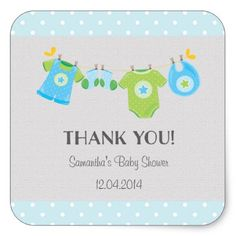 Baby Clothes Baby Shower Sticker - light gifts template style unique special diy