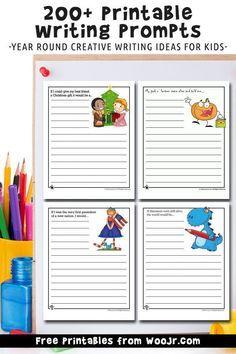 Writing Prompts 2nd Grade, Kindergarten Writing Prompts, Writing Prompts Funny, Writing Prompts For Writers, Picture Writing Prompts, Writing Lessons, Kids Writing, Writing Activities, Activities For Kids