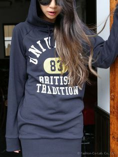 college print sweatshirt / Philter フィルター カレッジプリント裏毛PO - shopstyle.co.jp