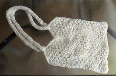Crocheted Tote will MAKE TO ORDER by HahnMade on Etsy, $20.00