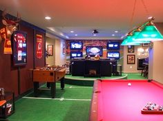 A football lover's dream room!