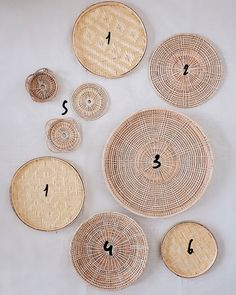 Korb Wandbehang Set Basket Wall Hanging Set of 9 Korb Wandbehang Set Baskets On Wall, Hanging Baskets, Woven Baskets, Farmhouse Baskets, Smooth Walls, Printed Cushions, Boho Living Room, Basket Decoration, Basket Weaving