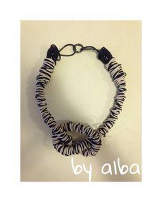 collana nodo bianca e nera : Collane di by-alba