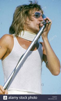 Rod Stewart with The Faces in November 1973 on a US tour.