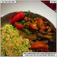 This easy peasy beef curry is perfect for Slimming World, not least because it's completely syn free. Easy to make and full of taste! Remember, at www.twochubbycubs.com we post a new Slimming World recipe nearly every day. Our aim is good food, low in syns and served with enough laughs to make this dieting business worthwhile. Please share our recipes far and wide! We've also got a facebook group at www.facebook.com/twochubbycubs - enjoy!