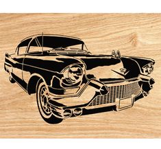 1957 Cadillac Scrolled Wall Art Pattern