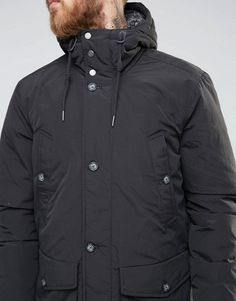 Lee | Lee Hooded Parka Coat Washed Black
