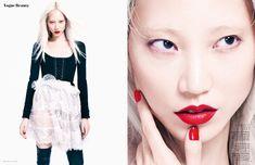 Soo Joo wears a Givenchy look in one image