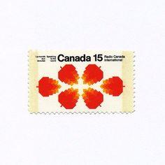 Canada Stamp 1971 - Radio Canada International (15¢). Design: Burton Kramer