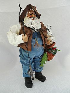 Possible Dreams Santa Dept 56 Clothtique Fisherman Santa Bib Overalls Fish Holly http://www.ebay.com/itm/161160399634?ssPageName=STRK:MESELX:IT&_trksid=p3984.m1555.l2649