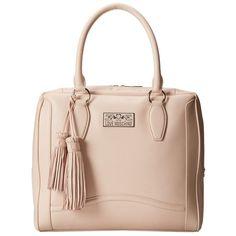 LOVE Moschino Borsa Manici Hand Bag (375 CAD) ❤ liked on Polyvore featuring bags, handbags, tote bags, purses, bolsas, bolsos, nude, hand bags, pink handbags and pink tote bag