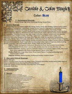 Candle Magick - Blue Candle - The Witch of Blackbird Pond