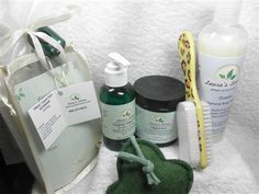 "Treat Your Feet Intensive Gift Bag Perfect for Father's Day or any other time! Give the gift of soothing comfort for aching feet with this All Natural ""Treat Your Feet INTENSIVE"" Gift Bag. The Treat Your Feet Gift Bag contains 1 12 oz. Oceans Body Wash 1 8 oz. Peppermint Dead Sea Salt Scrub, 1 4 oz. Minty Eucalyptus Foot Butter Loofah Sponge Pedicure Brush The whole package is beautifully combined into a reusable bag complete with a gift card you can personalize and a lighted key chain."
