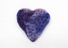 lurga / Violet love - brooch
