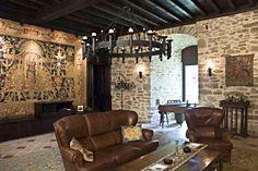 Living Room on Ground Level   Medieval Castle de Montbrun, Dournazac, Haute-Vienne, France