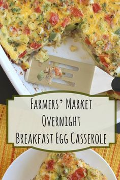 Loaded with bountiful veggies and savory Italian sausage, this hearty overnight egg bake casserole is perfect for holiday brunches or make-ahead breakfasts! Plus, because it's made without bread, it's gluten free, too! | www.TwoHealthyKitchens.com