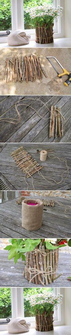 77014169b58a0 DIY: Ramas de árbol Tiesto   bricolaje & amp; Manualidades Tutoriales  Jednoduché Projekty,