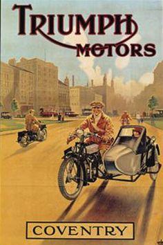 Triumph vintage poster