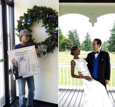 The lovely couple entered our gown preservation giveaway and won for our November 2015 drawing. Thank you for choosing us! Vest And Tie, November 2015, Past, Giveaway, Gowns, Couples, Drawings, Dresses, Curve Dresses