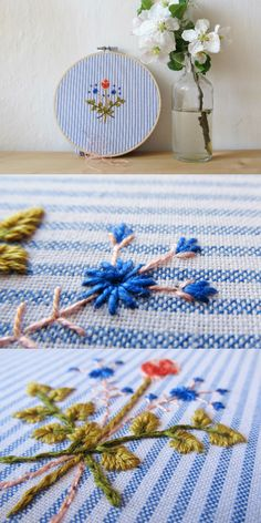 hand embroidery ⎸*Love bloom* ⎸Heather & Cloud