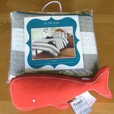 Ivy Hill Home Nautical Kids Twin Bed Quilt and Wally Whale Throw Pillow #IvyHillHome