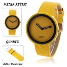 $3.57 WoMaGe Girls' Watch with Quartz Hours Analog Waterproof Dial 17mm Leather Band - Yellow