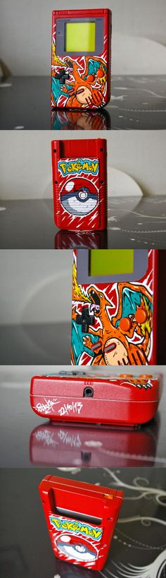 Wouldn't mind at all if handhelds went back to the simplicity of the Game Boy! Awesome Charizard custom mod by Oskunk (via Custom' by Oskunk, 2013)