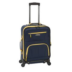 Rockland Luggage 19 in. Expandable Spinner Carry On - Glide smoothly through the terminal on 360-degree spinner wheels when you're packing a Rockland Luggage 19-inch. Expandable Spinner Carryon . This...