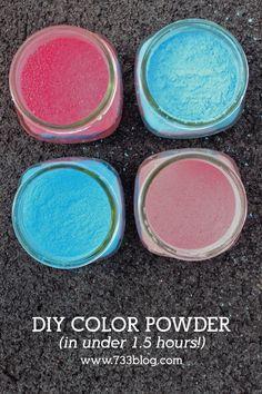 FAST DIY Color Powder Recipe for neighborhood color runs and color wars!
