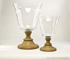 Flamant Glass Stormlight Fleurie on Oak Foot, in USA - only at Copper Strawberry for Flamant.