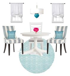 """""""Turquoise Dining"""" by modern-glam-designs on Polyvore featuring interior, interiors, interior design, home, home decor, interior decorating, The French Bee and Room Essentials"""
