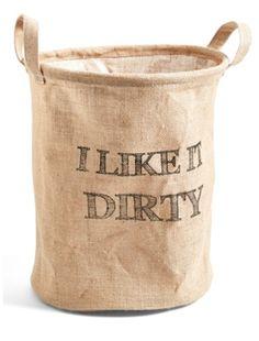 cheeky little laundry basket