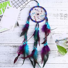 Flying Wind Chimes Dream Catcher Handmade Gifts Dreamcatcher Feather Pendant Creative Car Hanging Decoration-in Wind Chimes & Hanging Decorations from Home & Garden on Aliexpress.com | Alibaba Group
