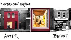 "SLIDE 6: Mark+Vivi, #renovation project 1 > ""The Tire Shop"" located in Verdun, QC 