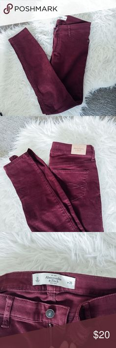 Abercrombie & Fitch Burgundy pants 90% new. Used. Has some signs of use. Abercrombie & Fitch Pants Leggings