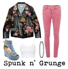 Spunk n' Grunge by musiclover4701 on Polyvore featuring polyvore, fashion, style, Topshop, Gucci, ONLY, women's clothing, women's fashion, women, female, woman, misses and juniors