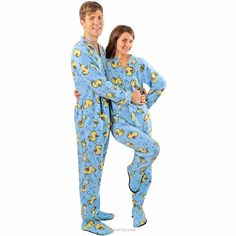 Blue Rubber Duck Footed Pajamas with Drop Seat for Adults -  Limited Sizes   Cozy 25e45913d
