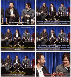 How cute: Andrew Lincoln and Norman Reedus learn how much the internet loves them.