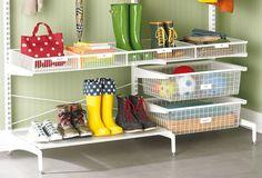 Rangement chaussures et accessoires d'extérieur système Elfa