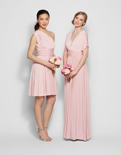 Henkaa convertible bridesmaid gowns.