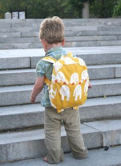DIY kids backpack. Making the boys something like this, in robots.