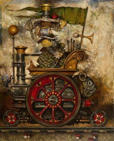 17 Best images about Daron Mouradian Fantasy, Retro Futuristic, Surreal Art, Steampunk Tendencies, Comic Book Art Style, Fantasy Art, Painting, Illustration Art, Art