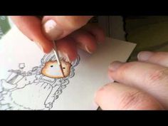 ▶ Colouring skin/face with Distress Ink (Part 1 & 2 together) - YouTube