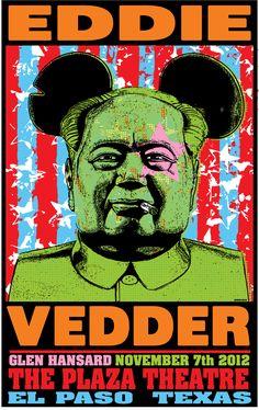 INSIDE THE ROCK POSTER FRAME BLOG: Frank Kozik Eddie Vedder El Paso Poster Release Details