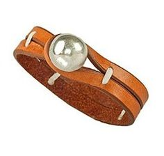 Caracol - Inspired Jewelry and Handbags - La Bolita Leather Bracelet from No. 3, $59.00 (http://www.caracolsilver.com/la-bolita-leather-bracelet-from-no-3/)